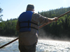 Retired Guide Blair Clark Navigating the River