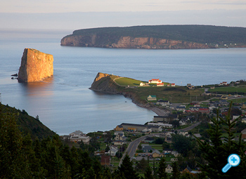 The town of Percé, QC.